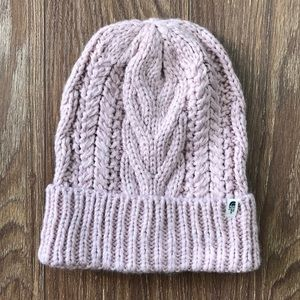 Light pink North Face beanie